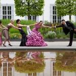 Türkisches Hochzeitspaar am Schloss Koblenz