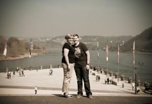 Engagement-Shooting am Deutschen Eck, Koblenz