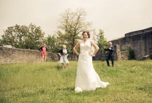 www.weddingshots.de: Hochzeitspaar und Trauzeugen